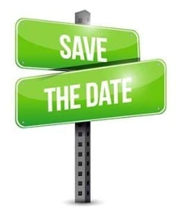 Save The Date street signs